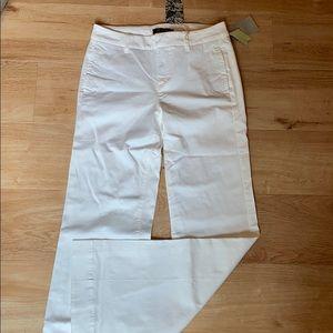 Wide-legged white pants